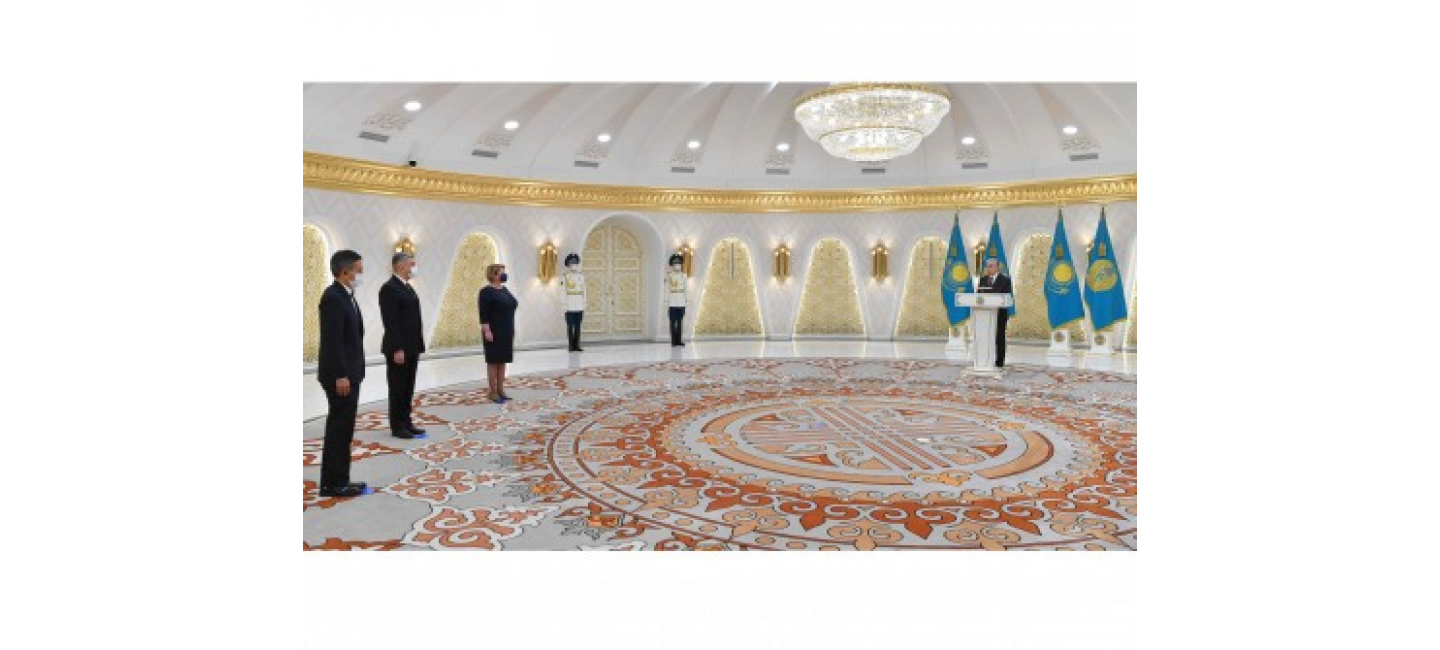 THE AMBASSADOR OF TURKMENISTAN TO THE REPUBLIC OF KAZAKHSTAN PRESENTED HIS CREDENTIALS